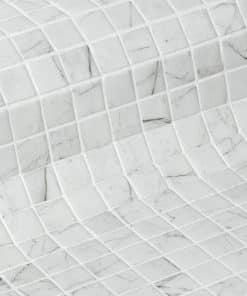 Glass mosaic tile carrara