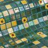 Glass mosaic tile Marigold by Ezarri.