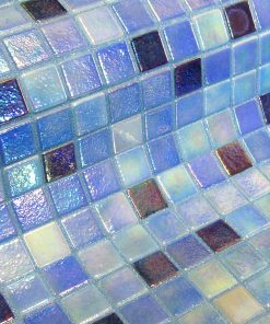 The glass mosaic tile Delphinus is a glow in the dark glass mosaic tile.