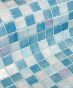 The glass mosaic tile Aquila is a glow in the dark glass mosaic tile.